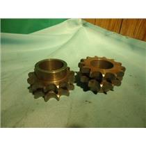"""AMETRIC1-7/16"""", 13 TOOTH DOUBLE SPROCKET LOT OF (2)"""