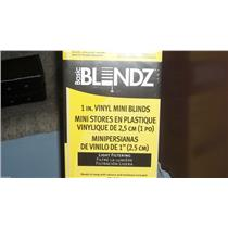 "BASIC BLINDZ 1 INCH WHITE VINYL MINI BLIND 22-1/2"" WIDTH X 36"" LENGTH NEW IN BOX"
