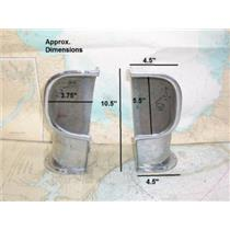 Boaters' Resale Shop of Tx 1305 0521.04 PAIR OF CHROME SIDE MOUNT COWL VENT