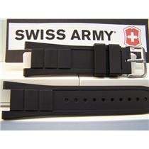 Swiss Army Watch Band Convoy Black Rubber Strap fits Model 241162 Watchband