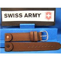 Swiss Army Watch Band Cavalry Leather Brown 18mm w/Rivets/Pins Strap Watchband