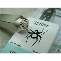 """""""Spider"""" 1/4""""-6mm-Large Stamp-Metal-Hardened Steel-Gold & Silver Bar Tattoo"""