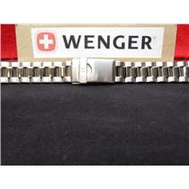 Wenger Watch Band Bracelet Model: 70109, 70119, 70129.19mm All Steel Silver Tone
