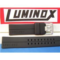 Luminox Watch Band Evo F-117 Nighthawk Luminox Embossed 6400 Series 23mm Black Rubber