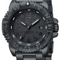 Luminox 3152BO. Navy Seal Colormark BO. Night Vision. Round Black Textured Dial.Stainless PVD Bezel/