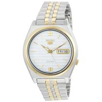 Seiko Men's SNX166. Seiko 5 Automatic. Silver Dial. Two-Tone Stainless-Steel Bracelet Watch.
