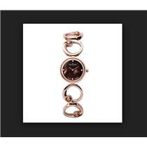 Skagen Ladies 889SRXR. Rose Gold Stainless Steel Bracelet w/Brown Fresh Water Pearls MOP Dial. Bling