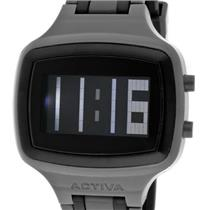 Activa AA400-008 by Invicta.50% Off.Digital.Sporty Retangle Black Dial.Polyurethane Grey Strap w/Bla