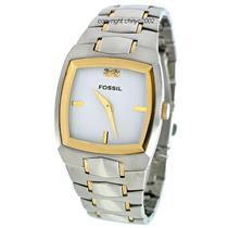 Fossil Men's FS4215 . Metal Dress Silver Dial Bracelet Watch.