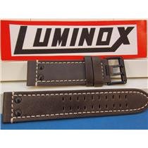 Luminox Watch Band Series 1820/1840,Brown Leather w/White Stitch Model 1837,23mm