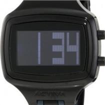 Activa AA401-009 by Invicta.50% Off.Digital.Sporty Retangle Black Dial.Polyurethane Black Strap w/ C