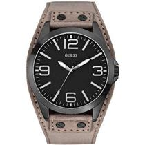 GUESS U0181G3.Black Dial.Grey Leather/Suede Cuff.50m Resist.