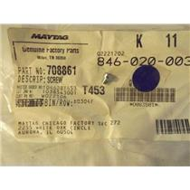 AMANA BOSCH CALORIC REFRIGERATOR 708861 488234 Screw, 8-32 X 1/4   NEW IN BAG