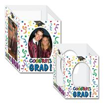 Beistle 2-Pack Congrats Graduate Photo Centerpiece Graduation Table Decoration