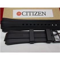 Citizen Watch Band BN0095 -08E Black Rubber Strap Eco Drive WR-200 Watchband