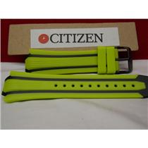 Citizen Watch Band BN0095 -16E Green/Yellow Rub Strap Eco Drive WR-200 Watchband