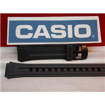 Casio Watch Band LW-201 15mm Ladies Black Resin Sport Strap. Watchband