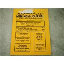 California Mining Journal October 1980 - California BLM CDCA plan Inadequate