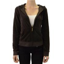 WINTER 2012 NWT Authentic Chestnut Juicy Couture VELOUR Gold J Hoodie JGM00001