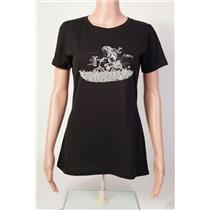 Club Ride Biker Girl T-Shirt Women's Black