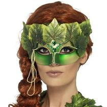 Mother Nature Poison Ivy Forest Nymph Decorative Eye Mask with Leaves and Jewels