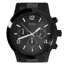 GUESS Men's U15061G1.Dress.Chronograph.Black Ion-Plated Bezel/Bracelet.100M Resist.
