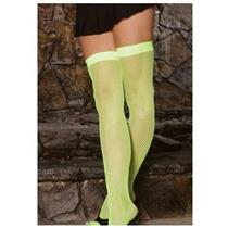 Elegant Moments Neon Green Fishnet Thigh Hi Highs