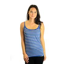 OS Michael Stars Blue White & Gray Classic Striped Tank Top SOFT Style 2847