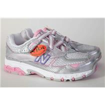 New Balance Girls 686 New Shoes Size 2.5 WIDE Silver Pink Purple