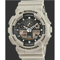Casio G-Shock GA100SD-8A.Military Sand Series.Magnetic Resistant.World Time.200m Resist.