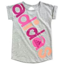 Adidas Little Girls' All in One Tee Keyhole Back NWT 4