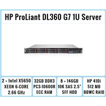 HP ProLiant DL360 G7 1U Server 2xSix-Core Xeon 2.66GHz + 32GB RAM + 8x146GB RAID