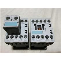 2 Used Siemens 3RT1017-1BB41 Contactors