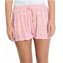 NEW Artisan De Luxe Ashley Flowy Shorts in Pink Floral Drawstring Elastic Waist