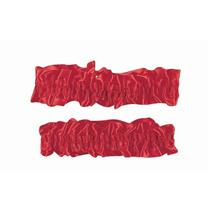 1920's Red Satin Old Fashioned Garter Flapper Arm Bands