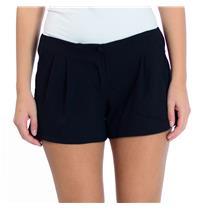 Size 4 Victoria's Secret Black Pleated Front Shorts With Faux Pocket Details