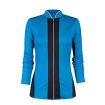 S NWT Tail Sequin Skies Genesis Long Sleeve Full Zip Tennis Jacket  Deep Aquatic