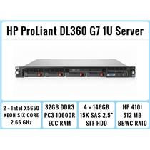 HP ProLiant DL360 G7 1U Server 2×Six-Core Xeon 2.66GHz + 32GB RAM + 4×146GB 15K