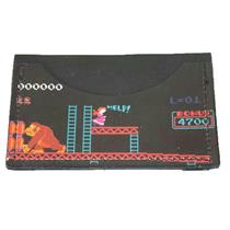 NWT Boutique Black Donkey Kong Print Leather ID Credit Card Carrier Mini Wallet