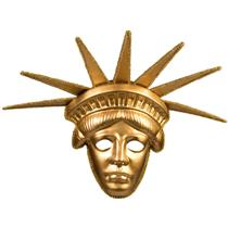 Forum Novelties Women's Gold Statue Of Liberty Deluxe Plastic Mask