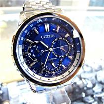 Citizen Men's Calendrier World Time Watch. Eco Drive Solar/Light Powered. 100 Meter Water Resist