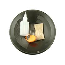 """Gold Rush Mining Kit"" Real PayDirt-Black Gold Pan-Vial-Snuffer-Tweezers-Loupe"