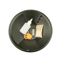 """Gold Rush Mining Kit"" Real PayDirt-12"" Black Gold Pan-Vial-Snuffer-Tweez-Loupe"