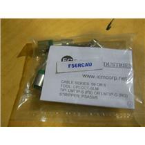 (BAG OF 25 CONNECTORS) ICM Corp/ F-Conn FS6RCAU RG6 Universal RCA (Green Stripe)