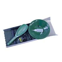 """""""BackPacking"""" Sluice Box 24""""x 8""""+ Snuffer Bottle, Gold Pan, Scoop, Magnet & Vial"""