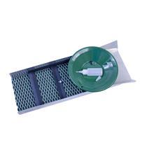 """BackPacking"" Sluice Box 24""x 8"" FREE Snuffer Bottle, Gold Pan & Vial-Mining Kit"
