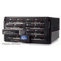 HP BladeSystem c3000 Enclosure + 6 Power Supplies + 6 Fans + OA + Gbit Ethernet & 16-port 4GB FC