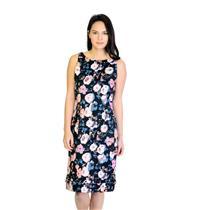New! Sz 2 Rachel Roy Black Floral Whip Stitch Hem Cotton Stretch Sheath Dress