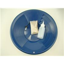 """Gold Rush Mining Kit"" Real PayDirt-12"" Blue Gold Pan-Vial-Snuffer-Yukon"