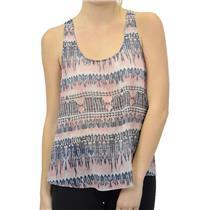 NWT Gentle Fawn Sleeveless Amazon Tank Top Sheer Chiffon Strappy Back Pink/Grey